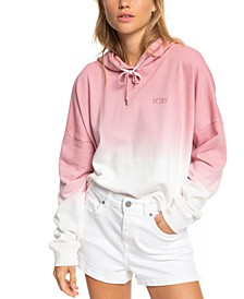 Juniors' Down The Coast Dip-Dyed Hoodie