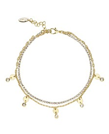 Giovanna Layered Crystal Women's Anklet