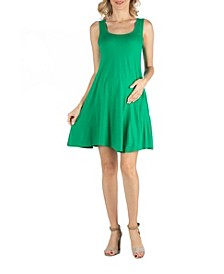 A Line Slim Fit and Flare Maternity Dress