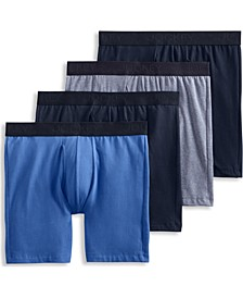 Men's Flex 365 Cotton Stretch Boxer Brief - 4 Pack, Created for Macy's
