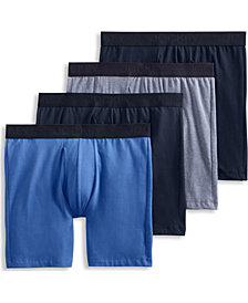 Jockey Men's Flex 365 Cotton Stretch Boxer Brief - 4 Pack, Created for Macy's