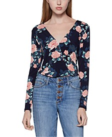 Open-Back Floral Bodysuit