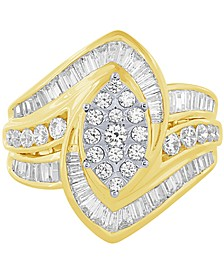 Diamond Two-Tone Engagement Ring (1-1/2 ct. t.w.) in 14k Gold & White Gold