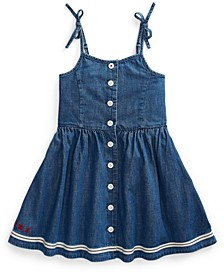 Toddler Girls Denim Fit & Flare Dress