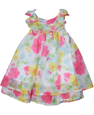 Blueberi Boulevard Baby Girls Floral-Print Chiffon Dress