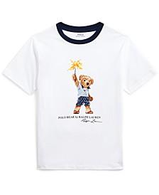 Big Boys Sparkler Bear Cotton T-Shirt