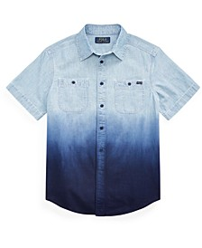 Big Boys Dip-Dyed Cotton Chambray Shirt