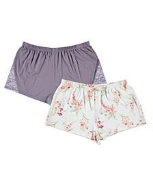 Mila 2pk Pajama Shorts