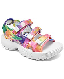 Big Girls' Disruptor Tie Dye Athletic Sandals from Finish Line