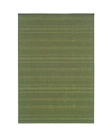 "Veranda VER05 Green 7'3"" x 10'6"" Area Rug"