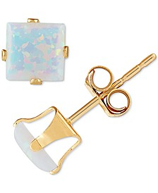 Lab-Created Opal Square Stud Earrings (1 ct. t.w.) in 14k Gold