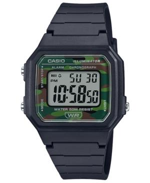 Men's Chronograph Digital Black Resin Strap Watch 41mm