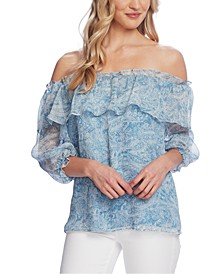 Petite Off-The-Shoulder Top