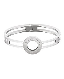 Women's Silver-Tone Stainless Steel Bangle