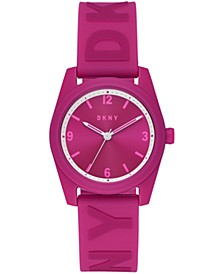 Women's Nolita Pink Silicone Strap Watch 34mm