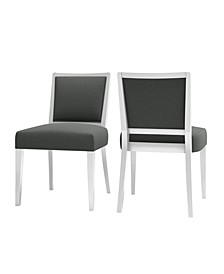 Brandy Upholstered Armless Dining Chair Set of 2