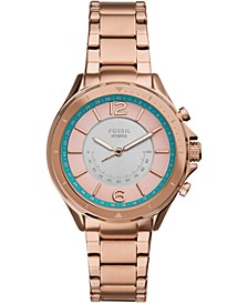 Women's Tech Sadie Rose Gold-Tone Stainless Steel Bracelet Hybrid Smart Watch 38mm