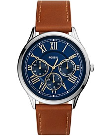 Men's Pierce Brown Leather Strap Watch 44mm