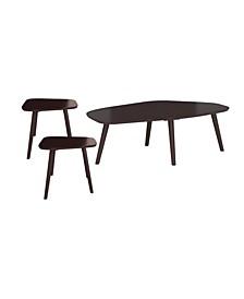 Brocken 3 Piece Wood Table Set