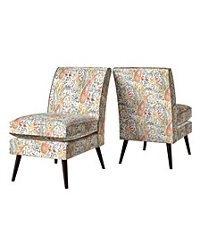 Harlow Mid Century Modern Armless Chairs Set of 2