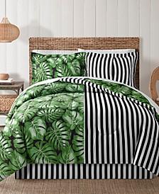 Fairfield Square Bermuda Palm 8Pc Full Comforter Set