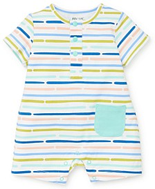 Baby Boys Safari Striped Romper