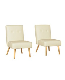 Webster Button Tufted Armless Chair Set of 2