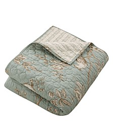 Lyon Toile Reversible Quilted Throw