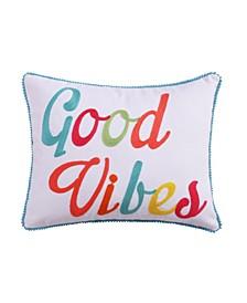 "Majestic 14"" x 18"" Good Vibes Decorative Pillow"