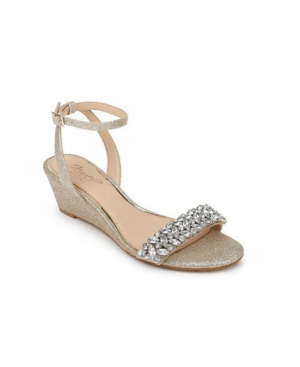 Jewel Badgley Mischka Bellevue Evening Wedge Sandal
