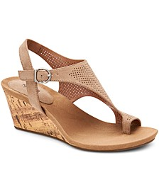 Maddyson Perforated Shielded Wedge Sandals, Created for Macy's