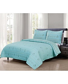 3 Piece Lightweight Microfiber Full/Queen Quilt Set