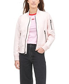 Women's Zip-Detail Bomber Jacket