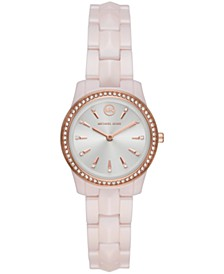 Runway Mercer Three-Hand Pink Ceramic Watch