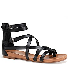 Charley Gladiator Flat Sandals, Created for Macy's