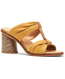 Frye & Co Women's Leiah Bow Block-Heel Mules