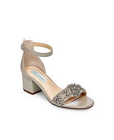 Betsey Johnson Women's Wide Mel Block Heel Sandal