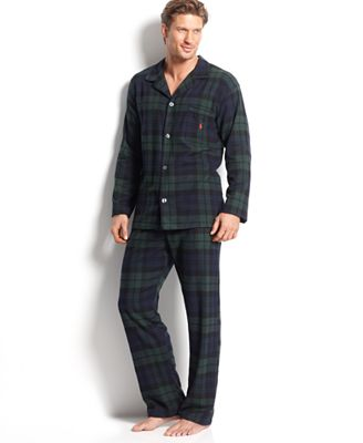 Polo Ralph Lauren Men's Plaid Flannel Pajamas - Pajamas, Lounge ...
