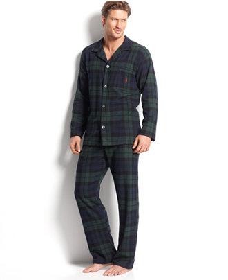 Polo Ralph Lauren Men's Plaid Flannel Pajamas - Pajamas, Lounge ...