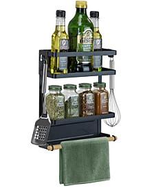 Magnet 3 Tier Spice Rack Organizer for Refrigerator