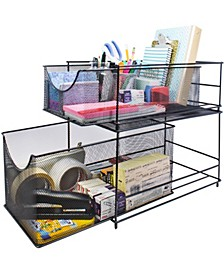 Mesh Steel Cabinet Organizer Drawer with Cover
