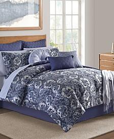 Hendel Indigo Queen Comforter Set