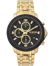 Men's Chronograph Bicocca Gold-Tone Stainless Steel Bracelet Watch 46mm