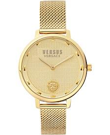 Women's La Villette Gold-Tone Stainless Steel Mesh Bracelet Watch 36mm