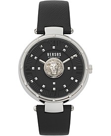 Women's Moscova Black Leather Strap Watch 38mm