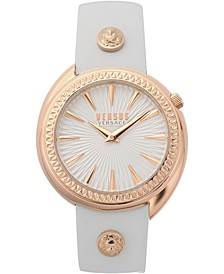 Women's Tortona White Leather Strap Watch 38mm