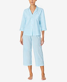Stripe Capri Pajamas Set