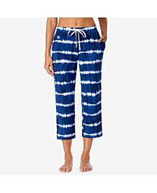 Printed Capri-Length Pajama Pants