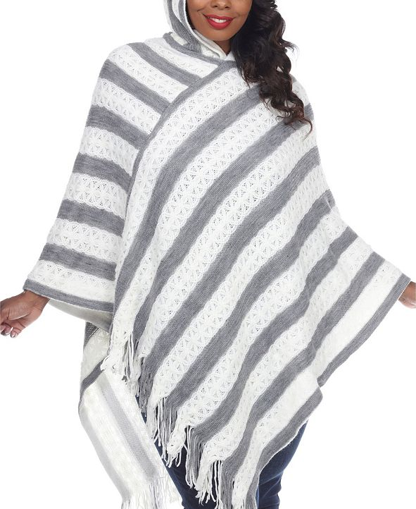 White Mark Women's Plus Size Casandra Poncho