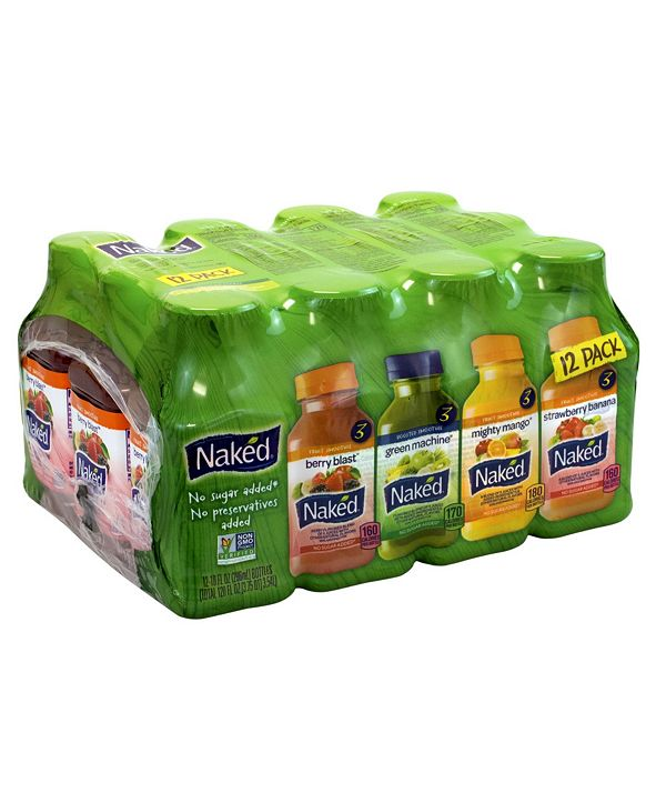 Naked Juice Variety Pack, 10 oz, 12 Count (902-00054) at